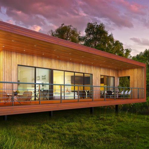 casas de madeira destaque