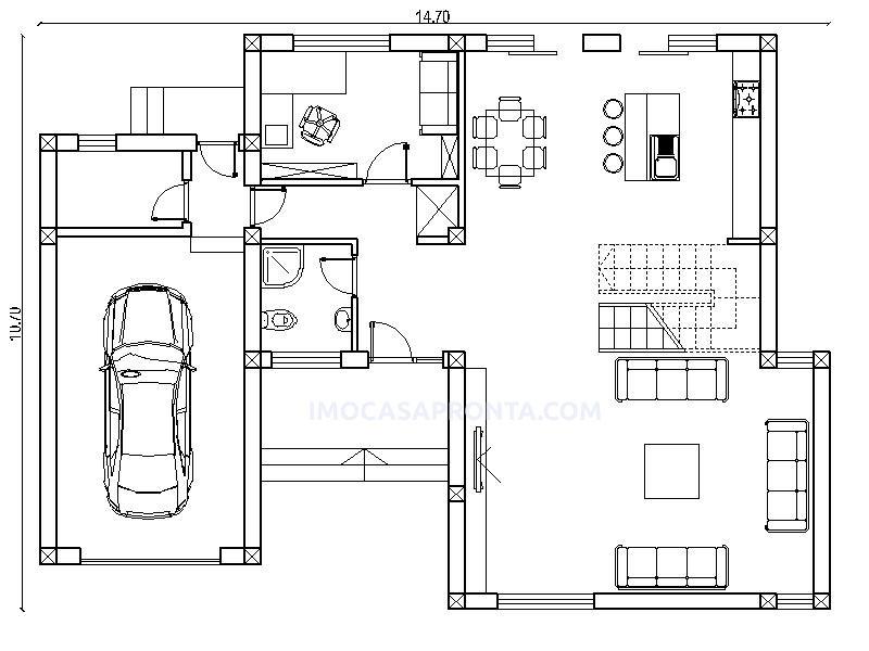 London Moradia T3 casas modulares imocasapronta planta