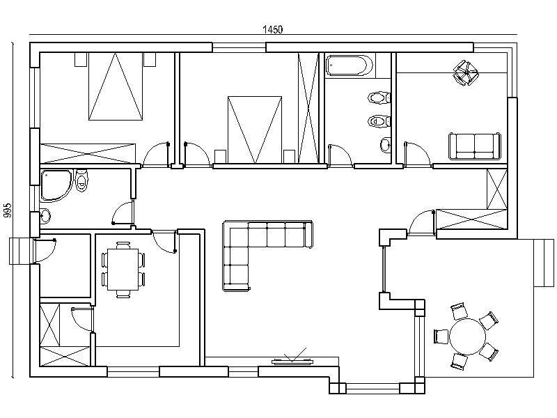 danlia T2+1 planta casas de madeira